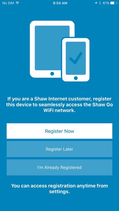 how to put shaw wifi on iphone