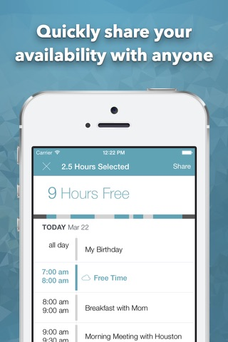 Free Time 2: Calendar Availability & Schedule for Today's Meetings screenshot 3