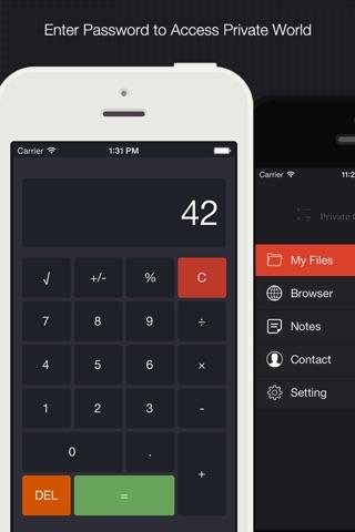 Private Calculator - File Hider, Secret Photo Video Browser, Image Downloader and Note vault screenshot 1
