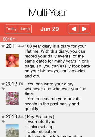 100 Year Diary screenshot 1