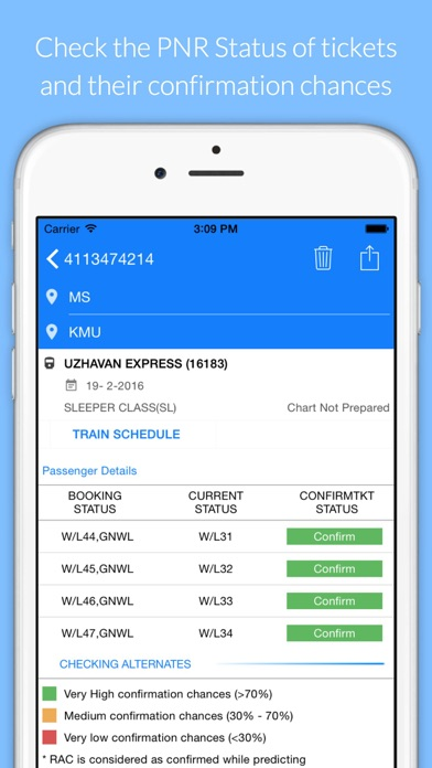 PNR status and train info 01253 APK