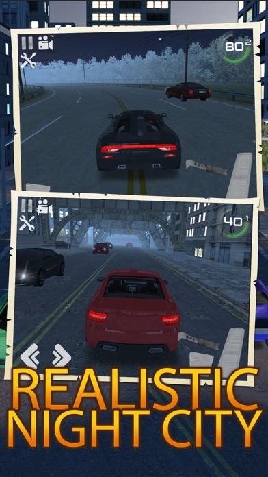 ночь трафик автомобиль дрейфа вождения и парковки Screenshot