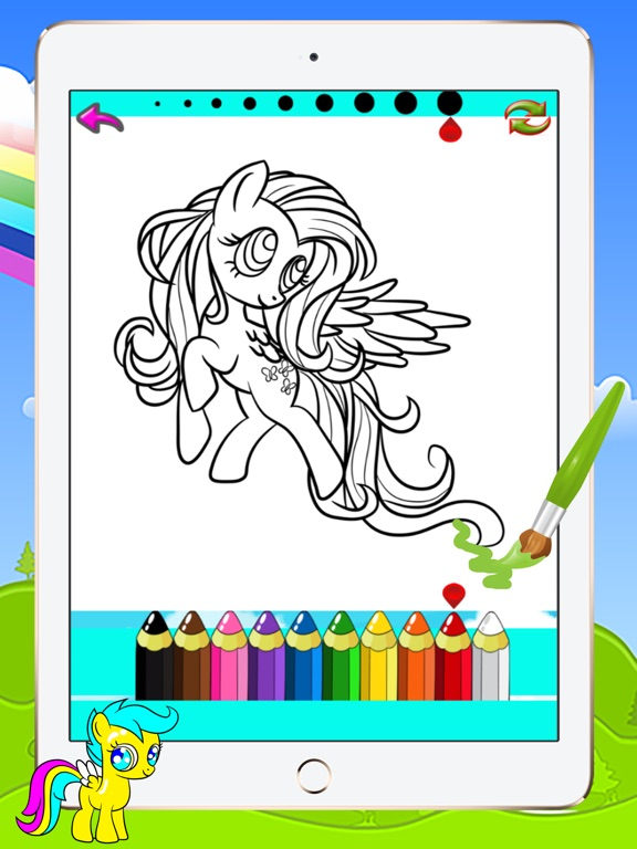 Pony Coloring Books Kids Games