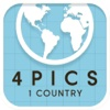 4 Pics 1 Country: pics quiz trivia game ~ Guess the place,  nation or city name word puzzles