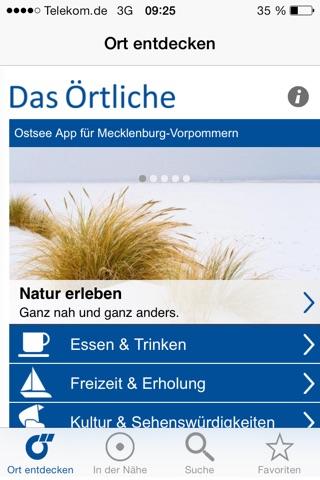 Ostsee-App von Das Örtliche – Entdecke die Ostseeküste von Mecklenburg-Vorpommern mit der kostenlosen Reiseführer App. screenshot 2