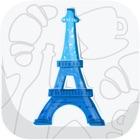 Paris, Paris guide with offline city map icon