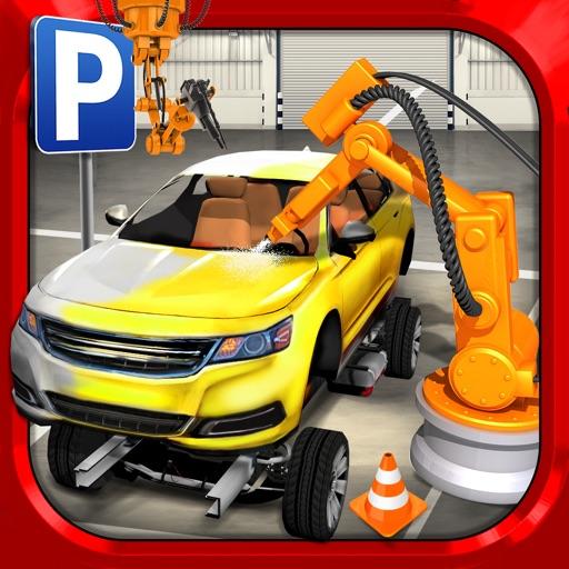 car factory parking simulator gratuit jeux de voiture de course par play with games ltd. Black Bedroom Furniture Sets. Home Design Ideas