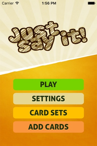Just Say It! - Charades party game screenshot 1