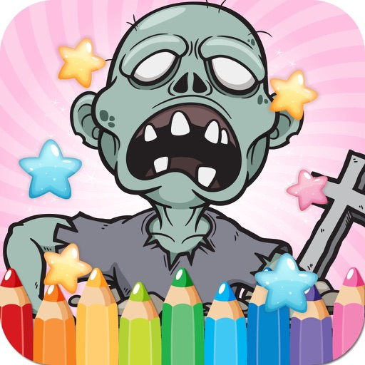 Coloring Book Cute Zombie Colorings Pages - pattern educational learning games for toddler & kids iOS App