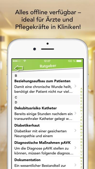 Screenshot for iWundpflege – Wundauflagen Sammlung und Ratgeber App für die Kitteltasche in Germany App Store
