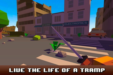 Pixel City Survival Simulator 3D screenshot 1