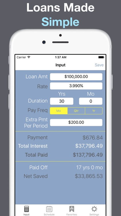 loan calculator amortization for auto home and credit card bank