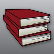 Lawstack Logo - Red Stack of Books on a Grey Background