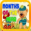 Months Learning with Teddy Bear Flashcards