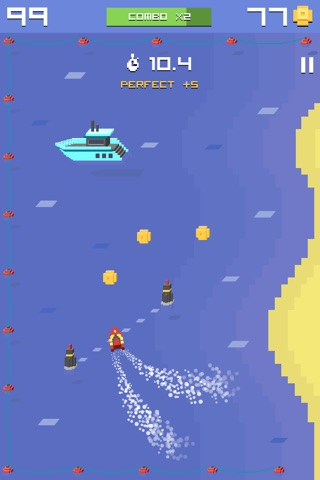 Pixel Bit Drift - Speed Boats Water Challenge screenshot 1