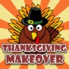 Thanksgiving Day Makeover - Visage Photo Editor to Swirl Holiday Stickers on Yr Face