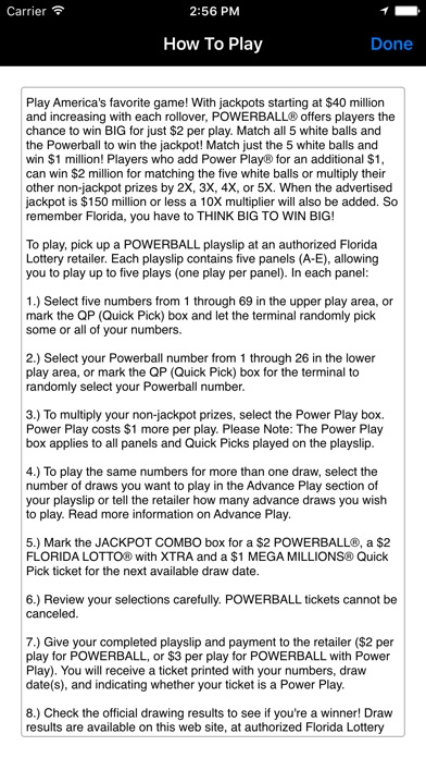 florida lotto 3 numbers out of 6