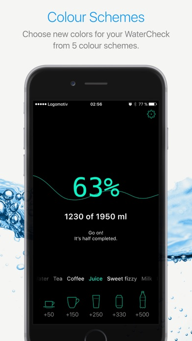 Watercheck – smart water balance tracker! Screenshots