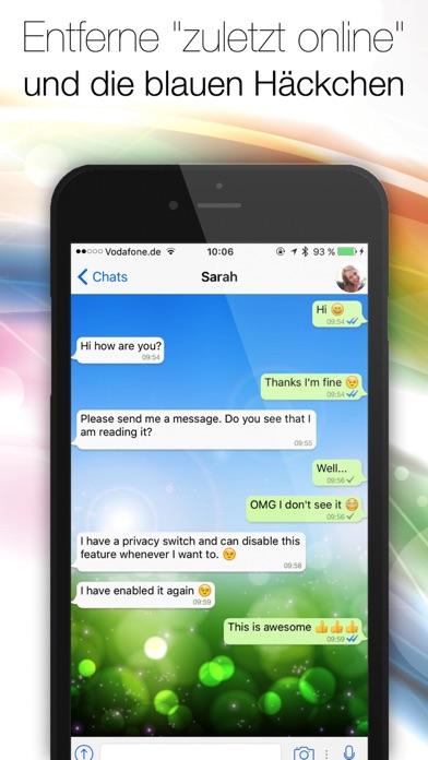 Screenshot for Spion for WhatsApp - Entferne die blauen Haken und Zuletzt-Online in Austria App Store