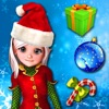 Santa Games and Puzzles - Swipe yummy candy to make it collect jewels for Christmas HD