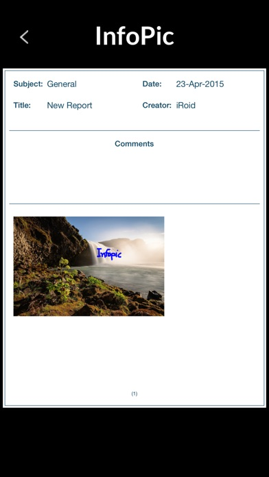 download InfoPic - Generate and email PDF documents of photos with comments. apps 2