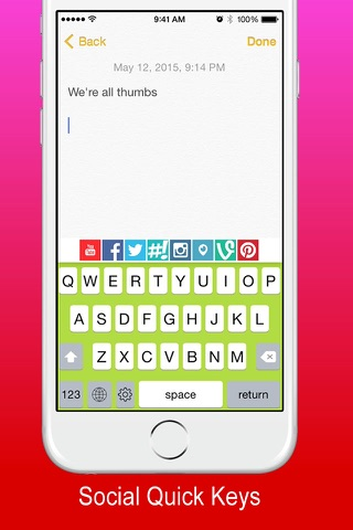 Thymble - Instagram Twitter Facebook & Periscope Social Keyboard Edition screenshot 4