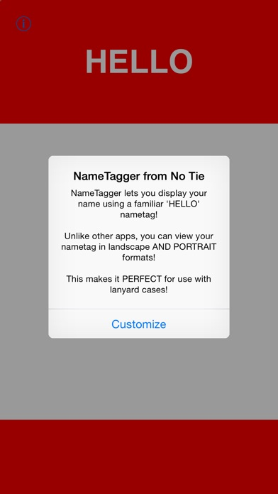 download NAMETAGGER Fun, Funny NameTag w/ Name & Title! Landscape, Portrait & Watch Modes apps 4