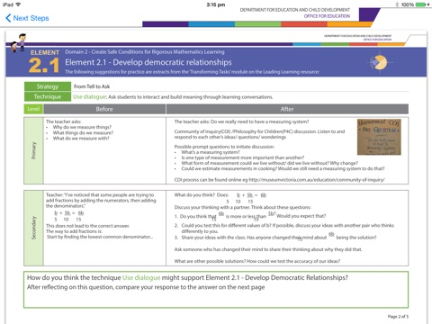 TfEL Maths Pedagogy – Audit to Action screenshot 2
