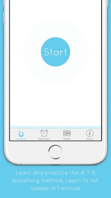Breathe 4 7 8 method keep calm get to sleep in 1 minute on iphone screenshot 2 ccuart Gallery