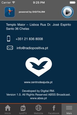 Rádio Positiva Portugal screenshot 2