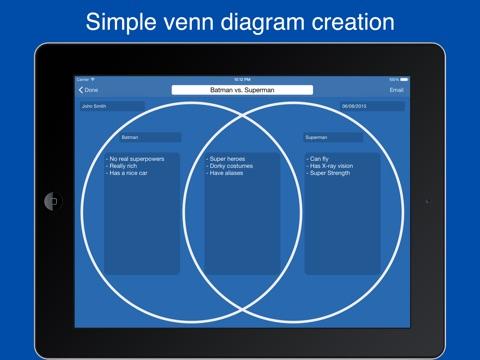 Venn diagram maker easy venn diagrams on the app store ipad screenshot 1 ccuart Choice Image