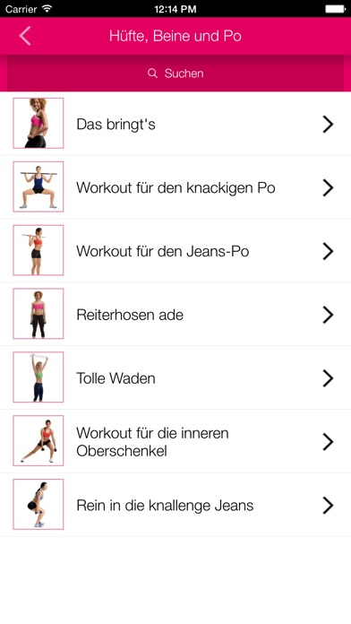 Women's Health 15-Min-Workouts Screenshots
