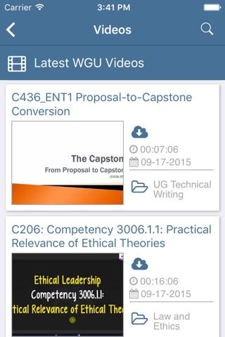 PocketWGU screenshot 4
