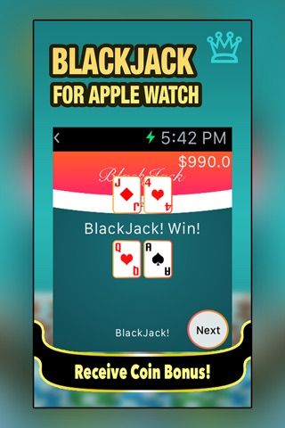 Blackjack for Apple Watch screenshot 1