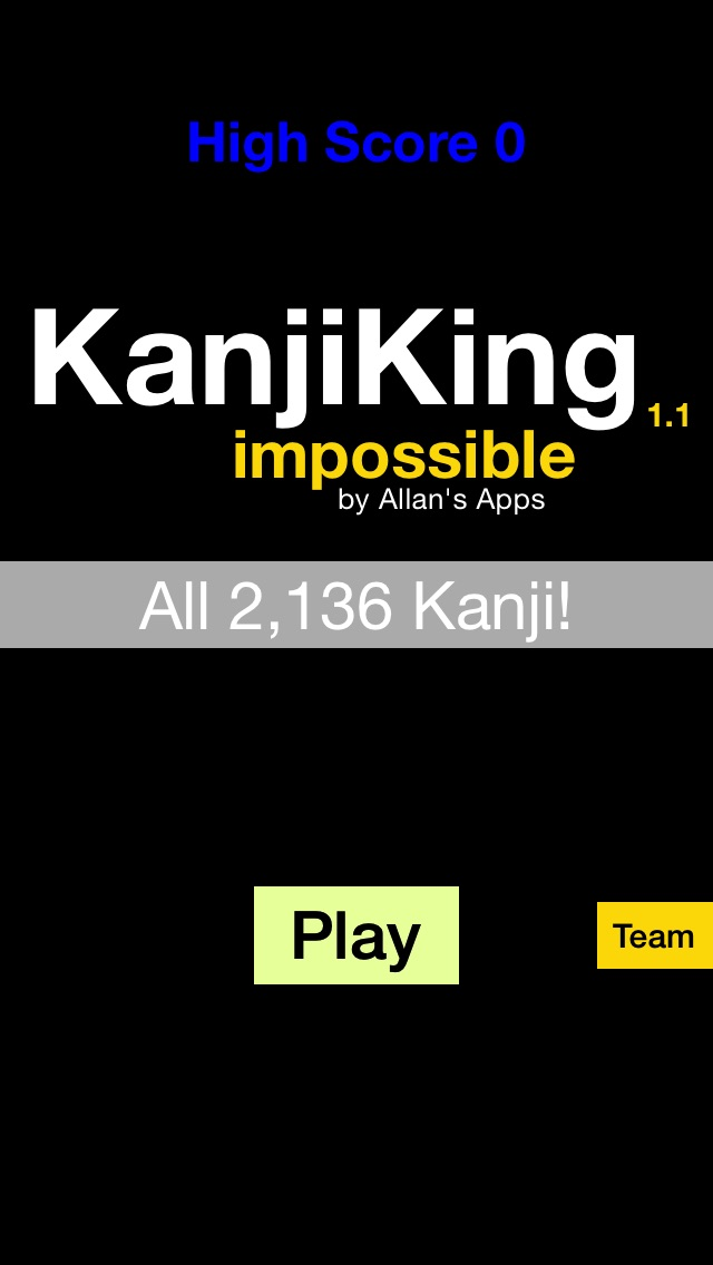 KanjiKing Impossible screenshot1