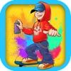 Mädchen und Bomben - Schnelle Skateboarder Obstacle Course (Premium)