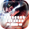 Custom Keyboard Cartoon Anime Manga : Color & Wallpaper Themes in Attack on Titan Style