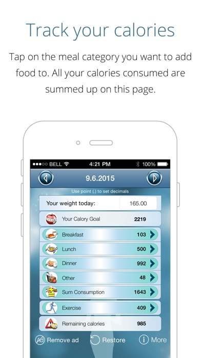 download Calorie Counter Free - lose weight, gain fitness, track calories and reach your weight goal with this app as your pal apps 4
