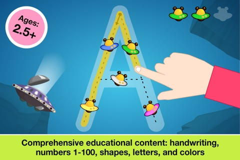 Preschool All In One Basic Skills Space Learning Adventure A to Z by Abby Monkey® Kids Clubhouse Games screenshot 1