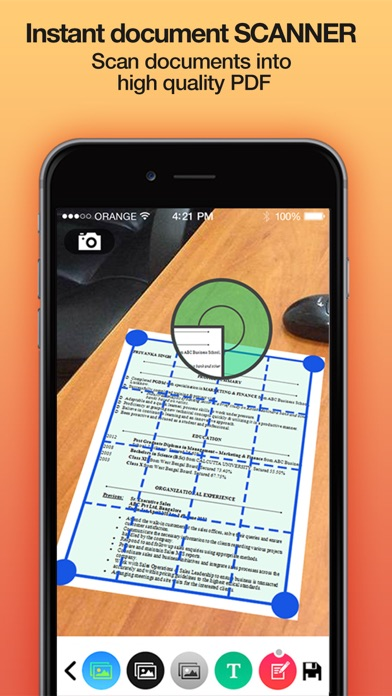 download iScanPro - Instant document scanner & translator appstore review