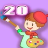 ABC Coloring Book 20 - Painting the Fairies to make them Colorful
