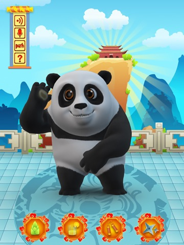 Talking Bruce the Panda for iPad Скриншоты6