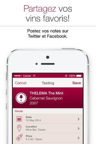 Wine Notes - Rate, Track and Share Your Wine screenshot 4