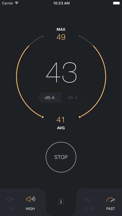 dB Meter Pro- measure environment noise in decible Screenshot