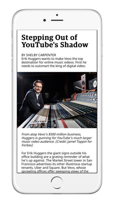 Screenshot 1 for Forbes's iPhone app'