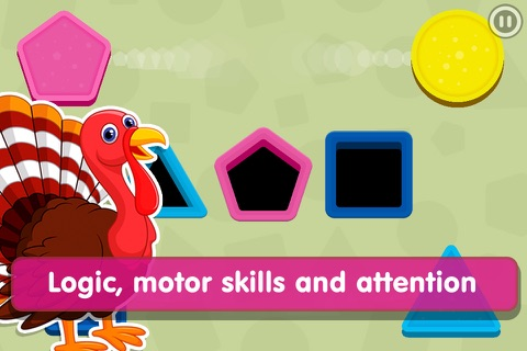 Smart Baby Shapes: Learning games for toddler kids screenshot 2