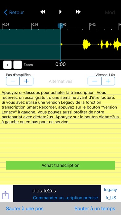 Capture d'écran de Smart Record Transcripteur2
