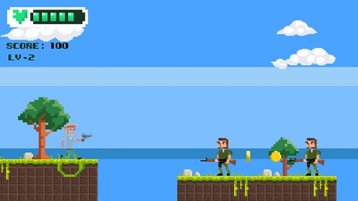 Pixel Man Shooting Adventure:Escape Screenshot