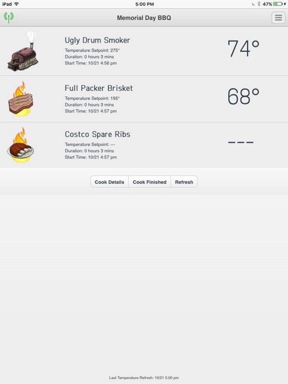 The Pit Pal BBQ App Screenshot