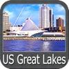 US Great Lakes - GPS Map Navigator